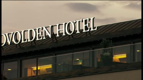 exterior shots of the sundvolden hotel near oslo, norway. - environment or natural disaster or climate change or earthquake or hurricane or extreme weather or oil spill or volcano or tornado or flooding stock videos & royalty-free footage