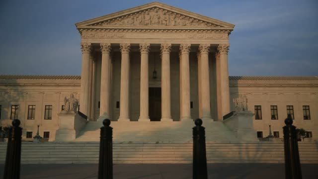 Exterior shots of the Supreme Court building in Washington DC on June 14th 2015 Shots Exterior shots of the Supreme Court building façade with the...