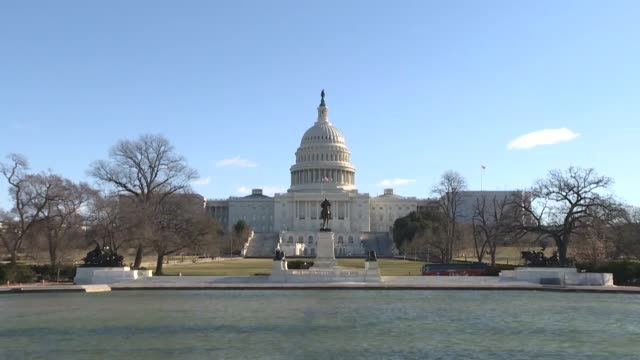 Exterior shots of the US Capitol Building and its environment on the 25th day of the partial government shutdown the longest in US history on January...