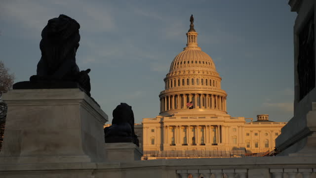exterior shots of the us capitol building in november 2020 in washington dc, united states. - building exterior stock videos & royalty-free footage