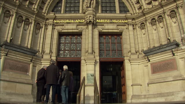 exterior shots of the victoria and albert museum in london housing an exhibition of work by the late david bowie on january 11 2016 in london england - victoria and albert museum london stock videos & royalty-free footage