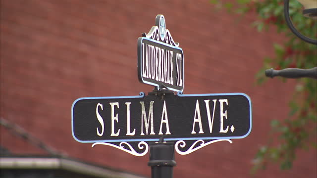 Exterior shots of the Walton Theatre on Selma Avenue with posters for the film 'Selma' displayed in the windows>> on March 07 2015 in Selma Alabama