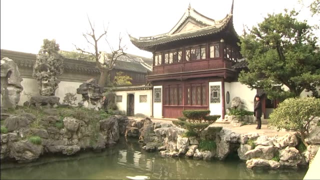 Exterior shots of the Yu Yuan Temple Gardens in Shanghai and Prime Minister Theresa May touring the gardens with her husband Philip >> on February 02...