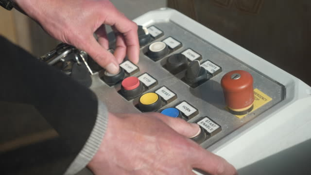 exterior shots of theme park ride control panel on 20 april 2020 in tredinnick, england, - push button stock videos & royalty-free footage