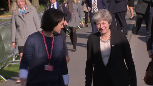 Exterior shots of Theresa May arriving at an EU summit on security on 29 September 2017 in Tallin Estonia