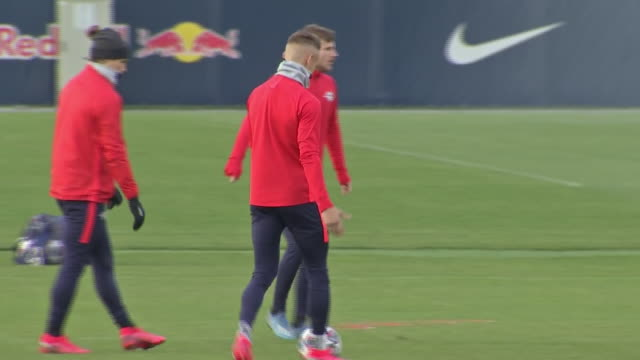 exterior shots of timo werner at training ahead of champions league match with tottenham hotspur on the 9th march 2020 in leipzig germany - sports league stock videos & royalty-free footage