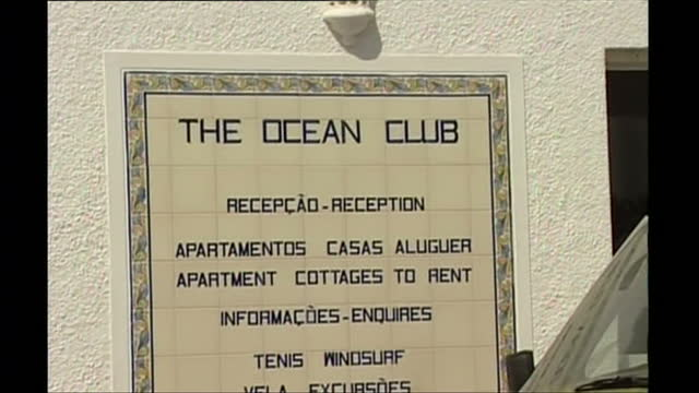 exterior shots of tourists outside the ocean club apartments after the disappearance of madeleine mccann on 4 may 2007 in praia da luz, portugal - madeleine mccann stock videos & royalty-free footage