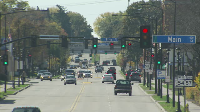 Exterior shots of traffic along Main Street on 8 November 2017 in Green Bay Wisconsin United States