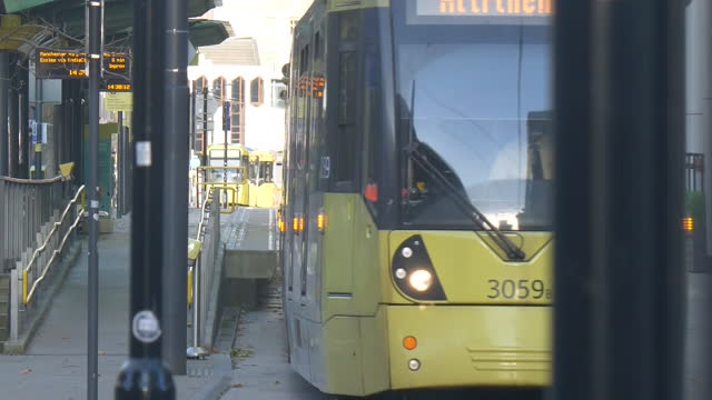 exterior shots of trams passing through st peter's square station during coronavirus lockdown on 12th november 2020 london, united kingdom. - state of the vatican city stock videos & royalty-free footage