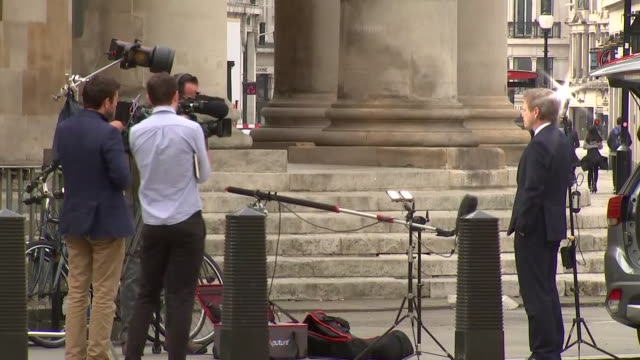 exterior shots of transport secretary grant schapps arriving at the bbc for the andrew marr show on 3 may 2020 in london, united kingdom - bbc stock videos & royalty-free footage