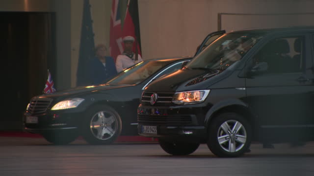 exterior shots of uk prime minister boris johnson departure after meeting the german chancellor angela merkel on 21 august 2019 in berlin germany - chancellor of germany stock videos & royalty-free footage