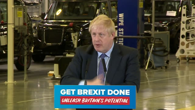 exterior shots of uk prime minister boris johnson speaking about how the only reason we're not moving on with brexit is because the uk parliament... - prime minister of the united kingdom stock videos and b-roll footage