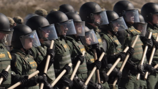 exterior shots of us border patrol officers training near the us mexico border 4th february 2019 in el paso untied states - untied stock videos and b-roll footage