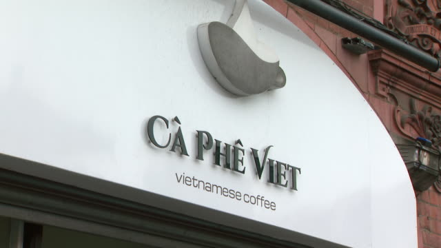 exterior shots of vietnamese store fronts including coffee shops and restaurants on 26 october 2019 in manchester england - traditionally vietnamese stock videos & royalty-free footage