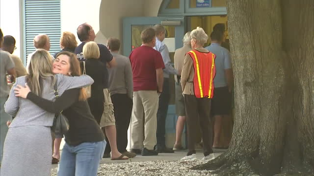 Exterior shots of voters in Tampa queuing outside a polling station on voting day in the Presidential Elections on November 08 2016 in Tampa FL