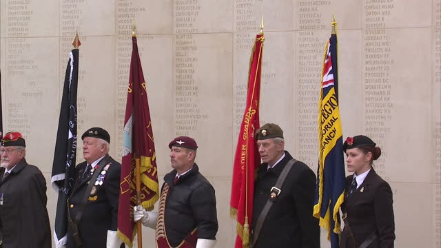 exterior shots of war veterans, members of the armed forces and their families at the armistice day service at the national memorial arboretum.... - national memorial arboretum stock videos & royalty-free footage