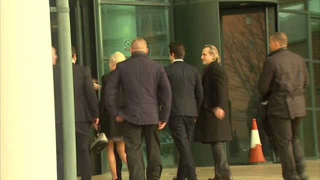 exterior shots of william bill roach coronation street actor arriving at preston crown court - will.i.am stock videos & royalty-free footage