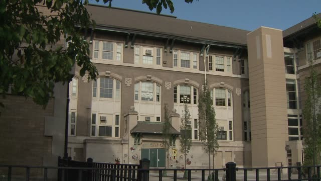 Exterior shots of William Penn Elementary School on the first day of the 2014 school year on Aug 2 2014