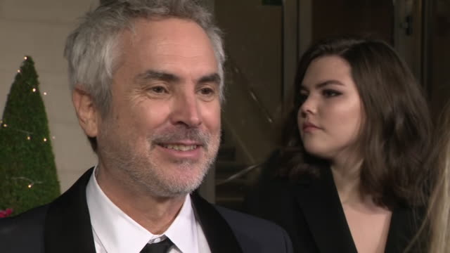 exterior shots of winner of the best director and best film awards for roma director alfonso cuaron interview on the bafta after party red carpet on... - alfonso cuaron stock videos & royalty-free footage