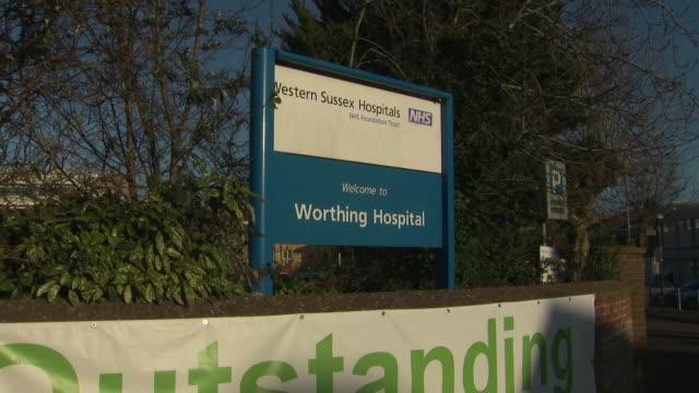 exterior shots of worthing hospital on february 12, 2020 in worthing, united kingdom. - worthing点の映像素材/bロール