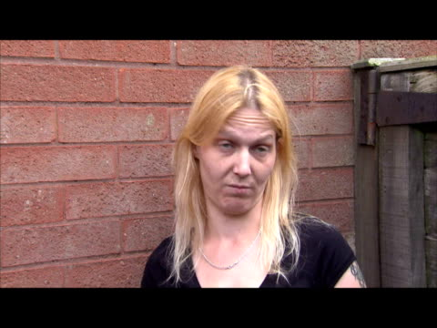 exterior shots of yvette foreman, former girlfriend of fugitive killer raoul moat, talking of how she met raoul and how well he knows the rothbury... - 1 minute or greater stock videos & royalty-free footage