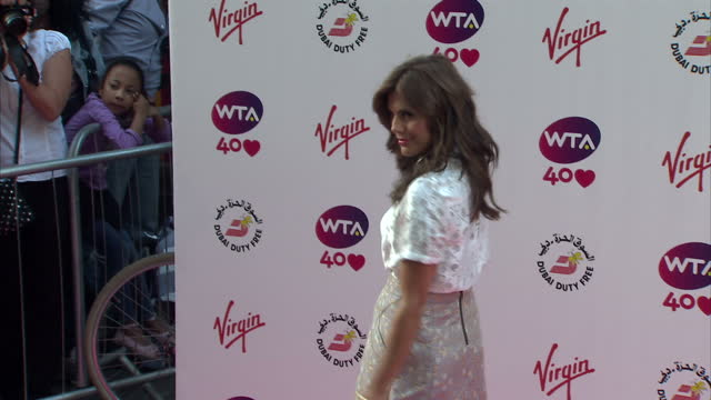 Exterior shots of Zoe Hardman on the red carpet at the WTA Pre Wimbledon party at Kensington Rooftop Gardens London Zoe Hardman WTA Pre Wimbledon...