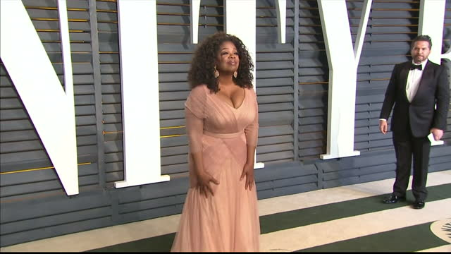 exterior shots oprah winfrey posing on february 22 2015 in los angeles california - oprah winfrey stock videos & royalty-free footage