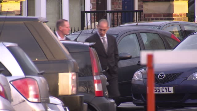 exterior shots paul gascoigne arrives at northallerton court with his lawyer. paul gascoigne faces more drink driving charges after being found to be... - 40 seconds or greater stock videos & royalty-free footage