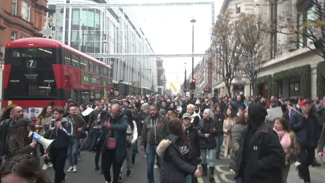 exterior shots people marching in anti-lockdown protest during the second wave covid-19 coronavirus pandemic national lockdown on 28 november 2020 in... - marching stock videos & royalty-free footage