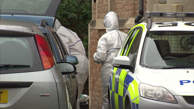 Exterior shots police officers forensic officers outside the home of Joanna Yeates Police Forensic Team Outside Joanna Yeates Home on September 29...