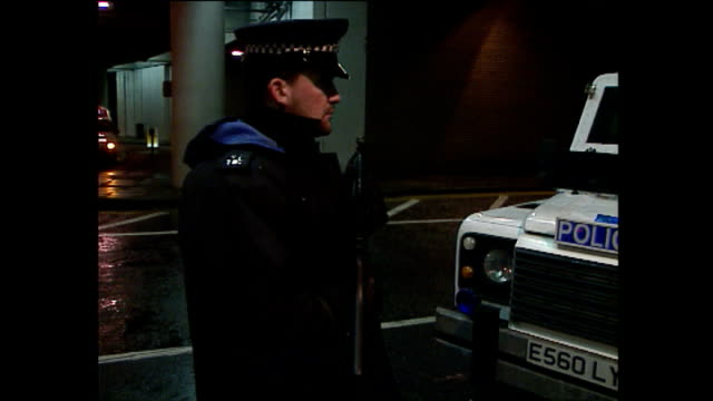 exterior shots police road block, police checking traffic - london docklands stock videos & royalty-free footage
