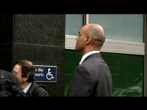 exterior shots police sergeant delroy smellie arriving at westminster magistrates court. a riot squad officer said tonight that he hit a g20... - sergeant stock videos & royalty-free footage