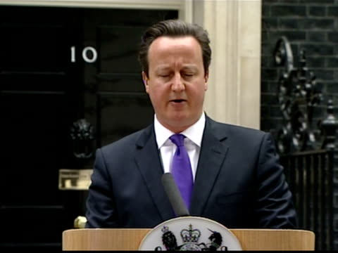 exterior shots prime minister david cameron press conference at number 10 downing street about the murder of lee rigby mr cameron says government... - lee rigby stock videos & royalty-free footage
