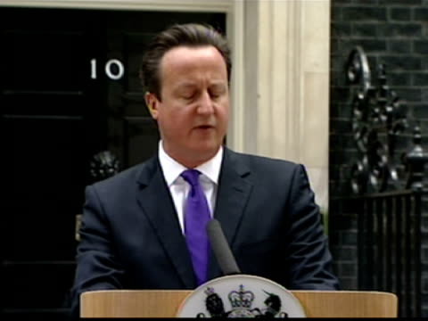 exterior shots prime minister david cameron press conference at number 10 downing street about the murder of lee rigby mr cameron says there is no... - lee rigby stock videos & royalty-free footage