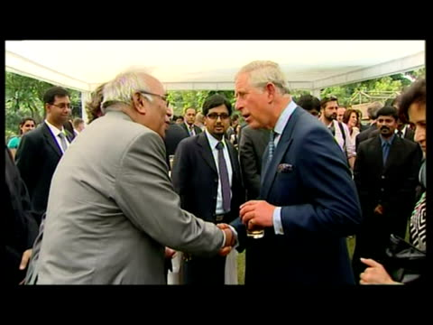 Exterior shots Prince Charles speaks to delegates representatives of Indian businesses ahead of the Commonwealth Games in Delhi Prince Charles...