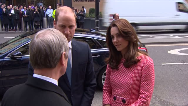Exterior shots Prince William Duke of Cambridge Catherine Duchess of Cambridge visit the mentoring programme of the XLP project at London on March 11...