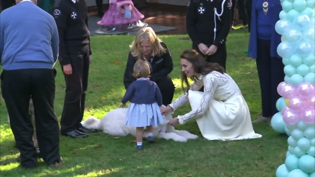 exterior shots prince william duke of cambridge catherine duchess of cambridge prince george of cambridge and princess charlotte of cambridge attend... - canada stock videos & royalty-free footage