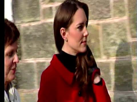 Exterior shots Prince William Kate Middleton in St Andrews Prince William Kate Middleton in St Andrews on February 25 2011 in St Andrews Scotland