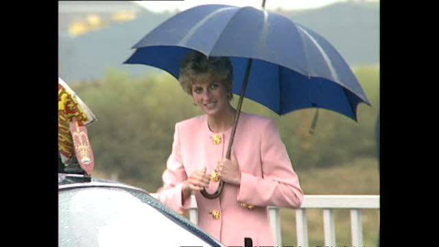 Exterior shots Princess Diana at opening of new Bridge in Teeside on 23 of September 1992 in Stockton on Tees England