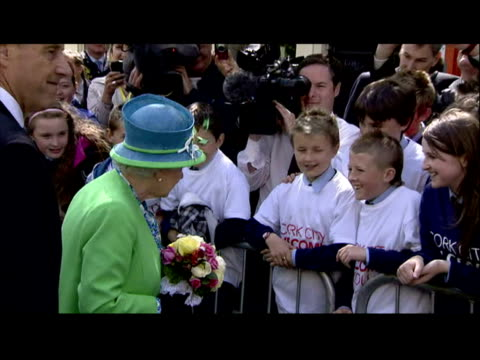 exterior shots queen and prince philip duke of edinburgh walkabout in cork meeting the public queen in cork walkabout on may 20 2011 in cork ireland - the queen stock videos and b-roll footage