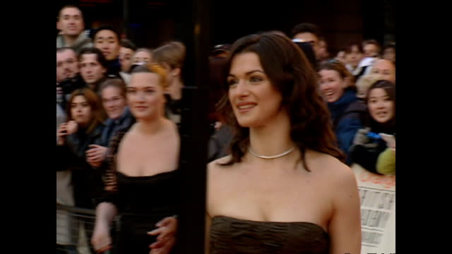 exterior shots rachel weisz actor on red carpet at the bafta awards on february 25 2001 in london england - rachel weisz stock videos & royalty-free footage