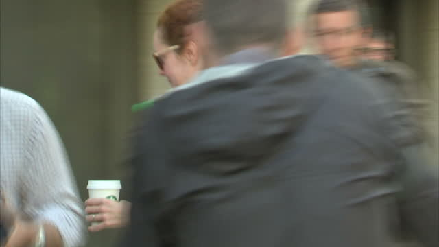 exterior shots rebekah brooks former ceo news international arrives at the old bailey, for hacking trial. on june 11, 2014 in london, england. - オールドベイリー点の映像素材/bロール