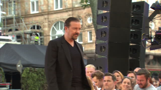 exterior shots ricky gervais at london premiere of 'life on the road' on august 10, 2016 in london, england. - ricky gervais stock videos & royalty-free footage