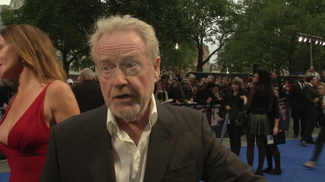 exterior shots ridley scott film director talks about europe being full of acting talent and how london is one of the busiest cities for film... - winning the first prize stock videos and b-roll footage