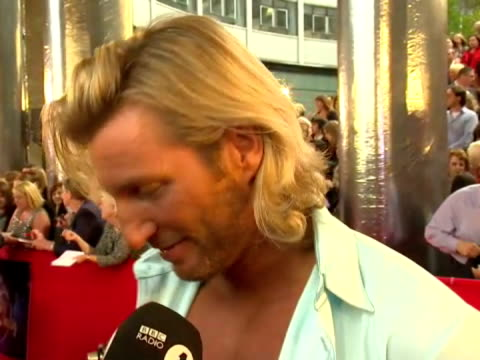 exterior shots robbie savage speaking to press at strictly come dancing series nine launch. robbie savage - strictly come dancing launch on september... - ストリクトリーカムダンシング点の映像素材/bロール