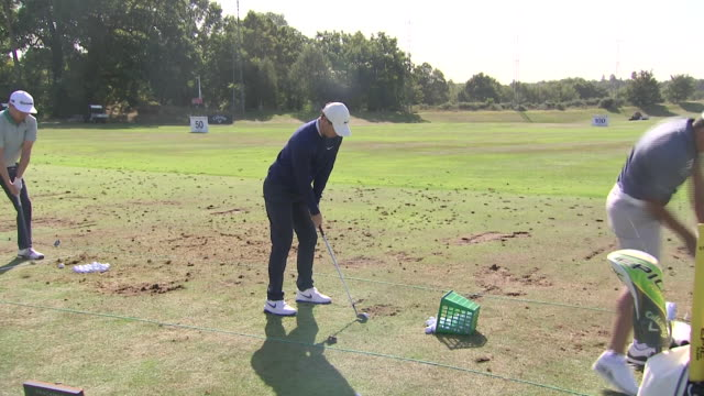 exterior shots rory mcilroy practising shots at driving range at wentworth golf course on 18th september 2019 in surrey england - driving range stock videos & royalty-free footage