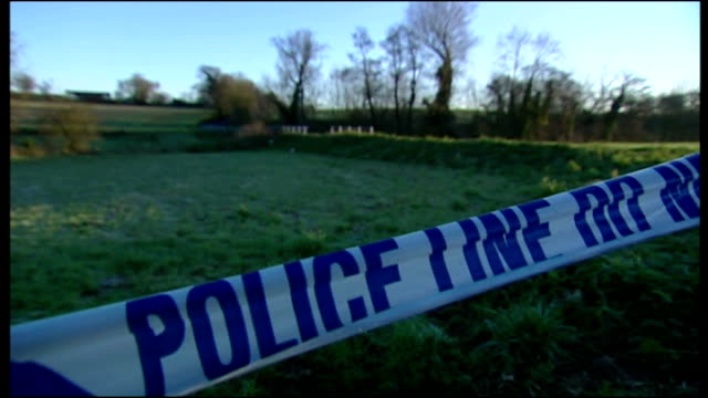 exterior shots scene where body of tania nichol was found cordoned off field police questioning drivers on december 09 2006 in ipswich england - murder stock videos & royalty-free footage
