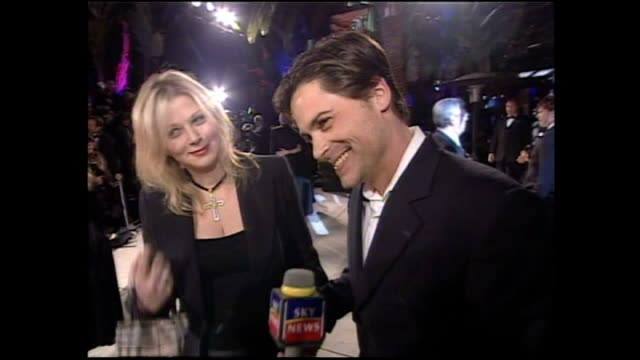 Exterior shots Sheryl Berkoff and Rob Lowe interview on March 26 2001 in Los Angeles California