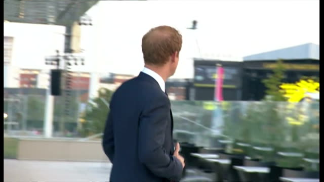 Exterior shots showing Prince Harry walking outside and staring into distance at people arriving for Invictus Games opening ceremony on September 10...