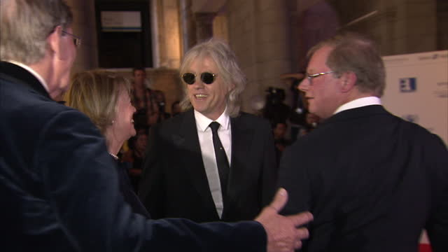 exterior shots sir bob geldof on the red carpet at the victoria albert museum olympic gala event sky news 2012 olympics coverage on july 25 2012 in... - bob geldof stock videos & royalty-free footage